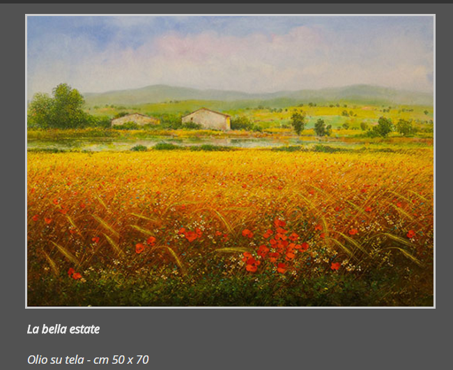 9 La bella estate, olio su tela, cm. 50 x 70