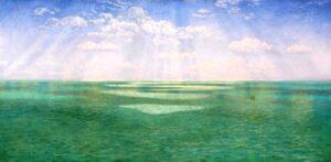 John Brett (1831-1902), Vista della Manica delle scogliere di Dorset, 1871, Tate Gallery