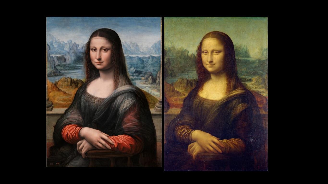 La Gioconda trovata in una collesione privata di San Pietroburgo e Monna Lisa del Louvre