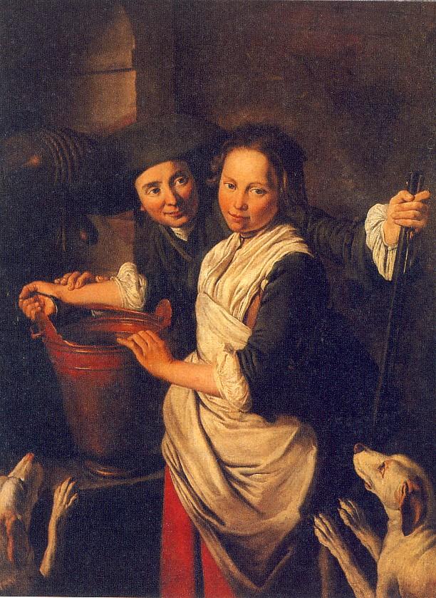 G.CERUTI, L'incontro al pozzo, 1740-1750 ca., olio su tela, 146 x 114 cm, collezione privata