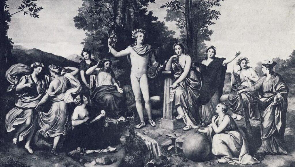 A. R .MEGS, Il Parnaso, 1760-1761, affresco, Roma, Villa Albani - Volta della Galleria