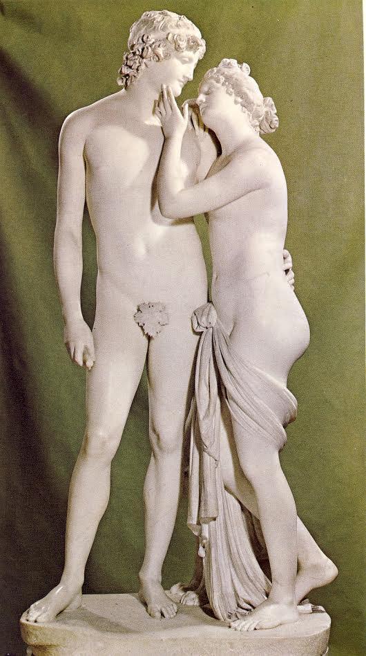 A. CANOVA,Venere e Adone, 1789-1794, marmo, 185 x 80 x 60 cm, Ginevra, Villa La Grange
