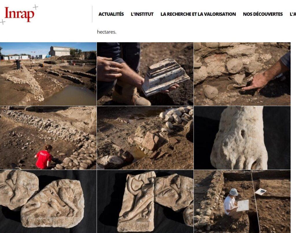 Parte del materiale ritrovato: http://www.inrap.fr/