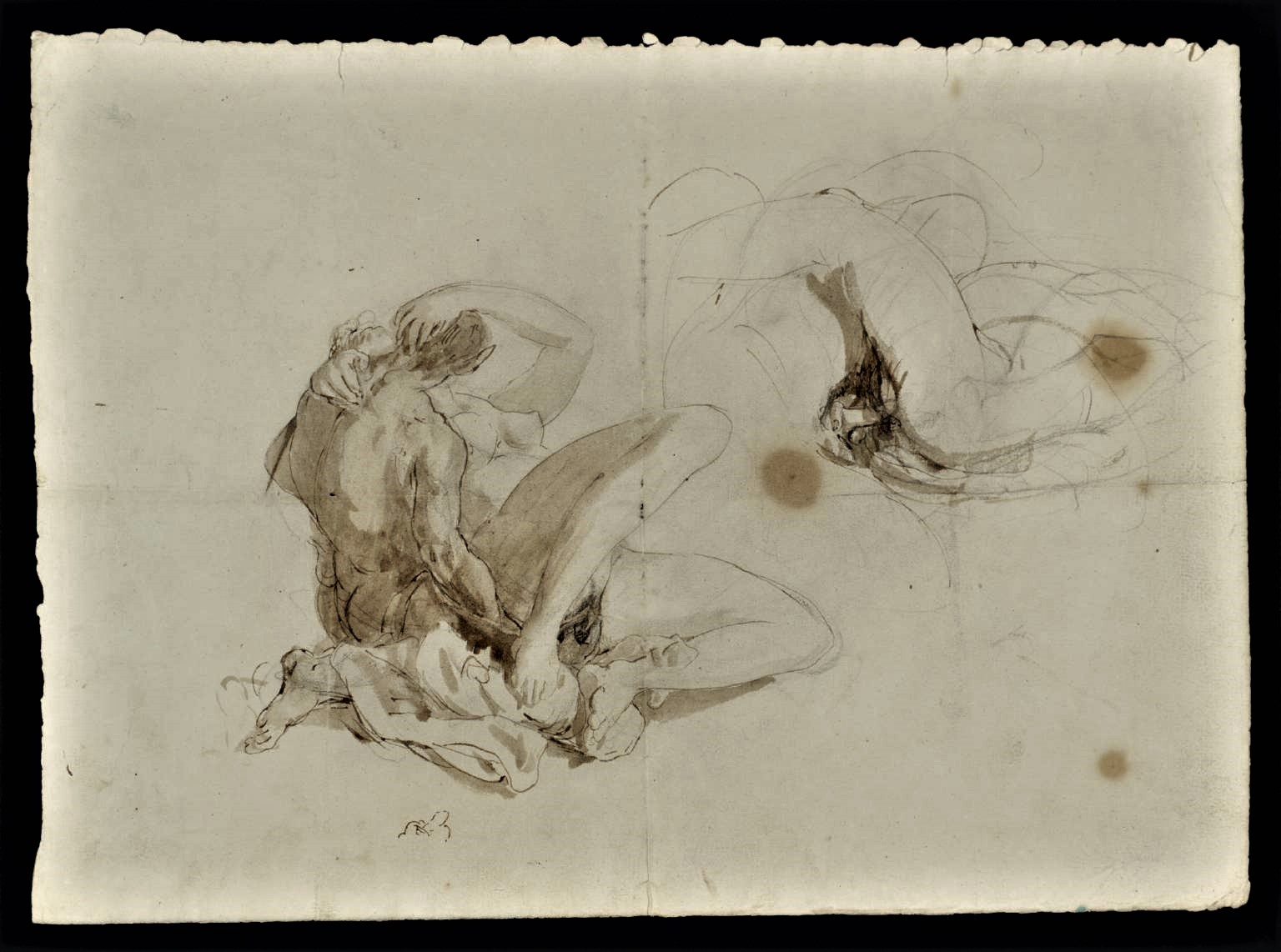 Erotic Figure Studies circa 1805 by Joseph Mallord William Turner 1775-1851
