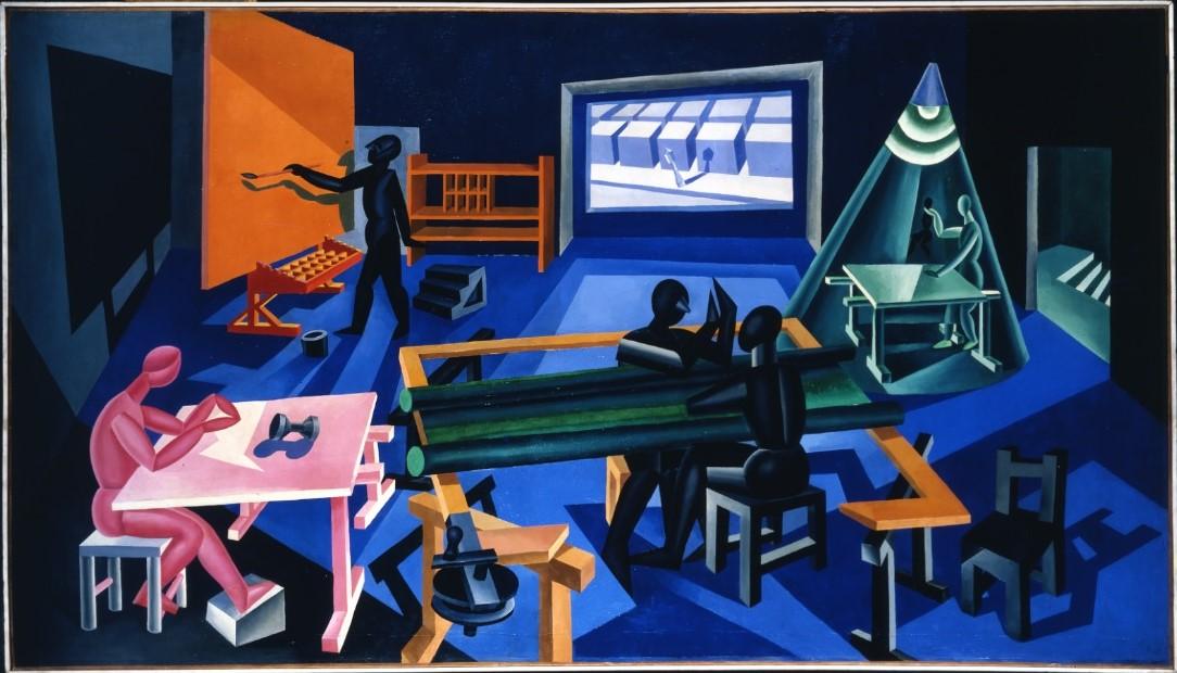 Fortunato Depero, La casa del mago, olio su tela, cm 150 x 260. © Eredi Depero