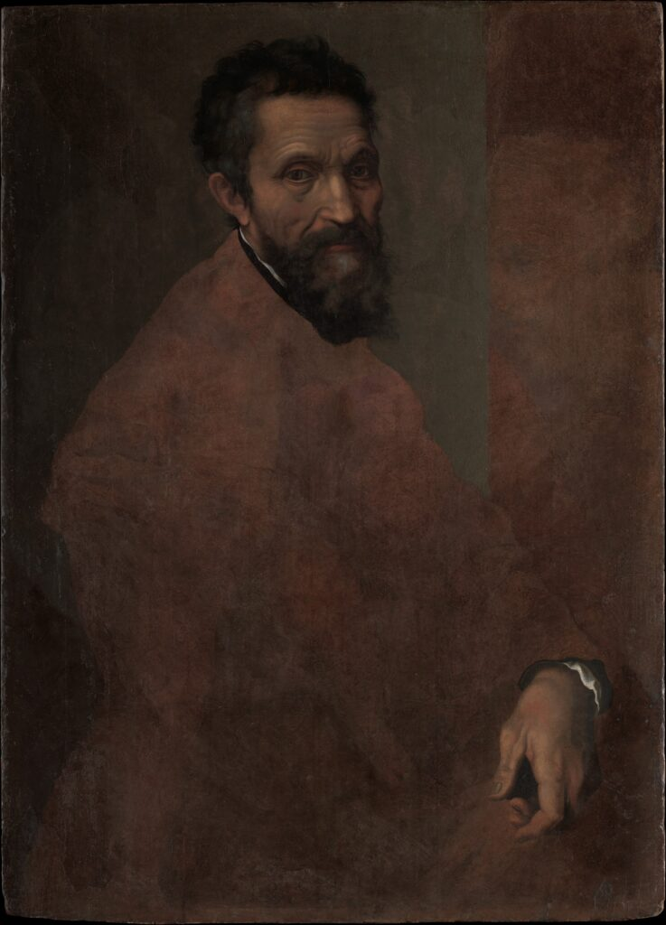 Daniele da Volterra (Daniele Ricciarelli) (Italian, Volterra 1509–1566 Rome) Michelangelo Buonarroti (1475–1564), probably ca. 1544 Oil on wood; 34 3/4 x 25 1/4 in. (88.3 x 64.1 cm) The Metropolitan Museum of Art, New York, Gift of Clarence Dillon, 1977 (1977.384.1) http://www.metmuseum.org/Collections/search-the-collections/436771