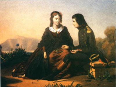 Un'antica illustrazione che ricorda l'episodio
