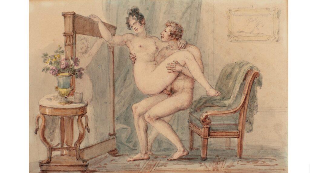 Paul Chevanard, Riflessioni amorose, acquerello con tracce di lapis