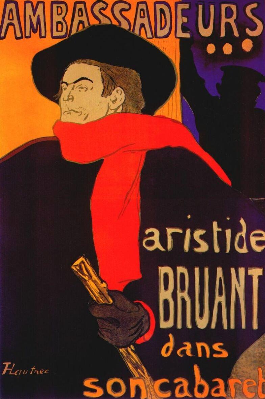 Henri de Toulouse-Lautrec, Manifesto di Aristide Bruant, 1882