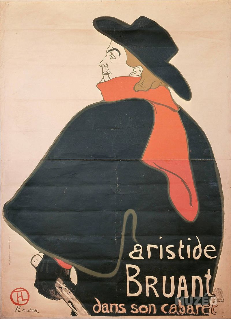 a fellini aristide Aristide Bruant in his Cabaret painting by Toulouse-Lautrec