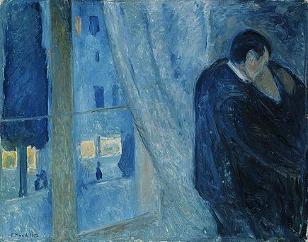 a munch il bacio con la finestra 1892