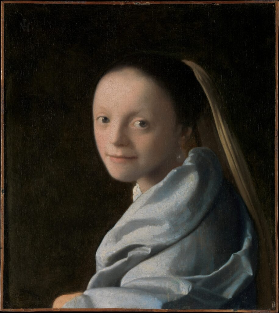 Johannes Vermeer (Dutch, Delft 1632–1675 Delft) Study of a Young Woman, ca. 1665–67 Oil on canvas; 17 1/2 x 15 3/4 in. (44.5 x 40 cm) The Metropolitan Museum of Art, New York, Gift of Mr. and Mrs. Charles Wrightsman, in memory of Theodore Rousseau Jr., 1979 (1979.396.1) http://www.metmuseum.org/Collections/search-the-collections/437879