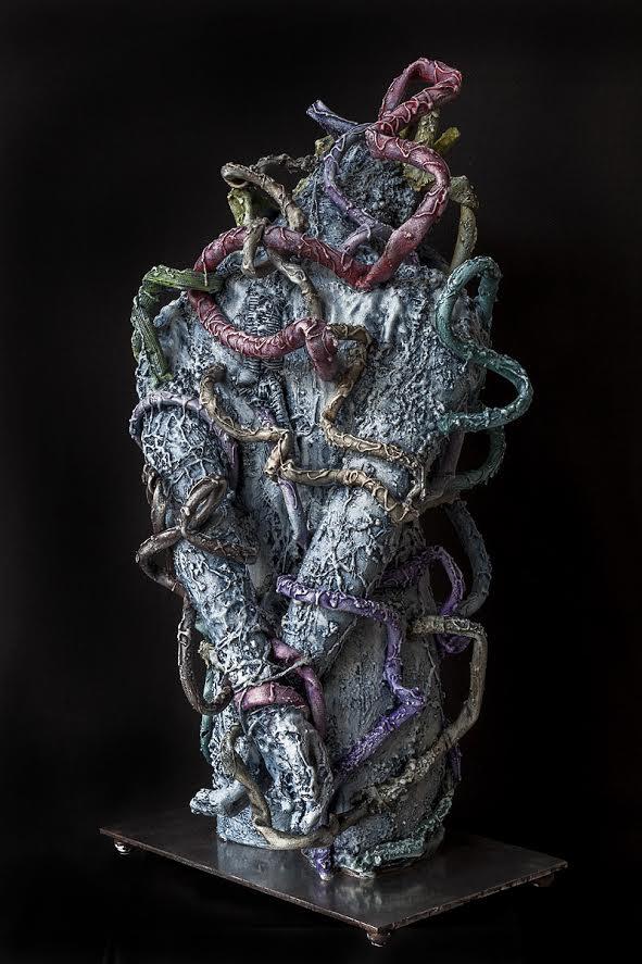 R.PAGNI, Prigione 2017 (part.), 2017, tecnica mista, 115 x 65 x 65 cm. Fotografia di Paolo del Freo
