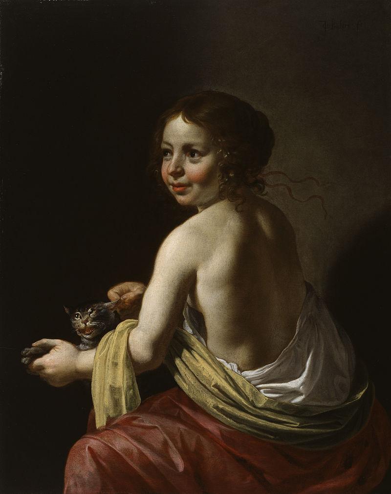 La gatta, un'opera di Jan van Bijlert, o van Bylert, van Bylaert, o ancora, in italiano, Giovanni Bilardo - Utrecht, 1598 – Utrecht, 13 novembre 1671), pittore olandese appartenente alla scuola caravaggesca.
