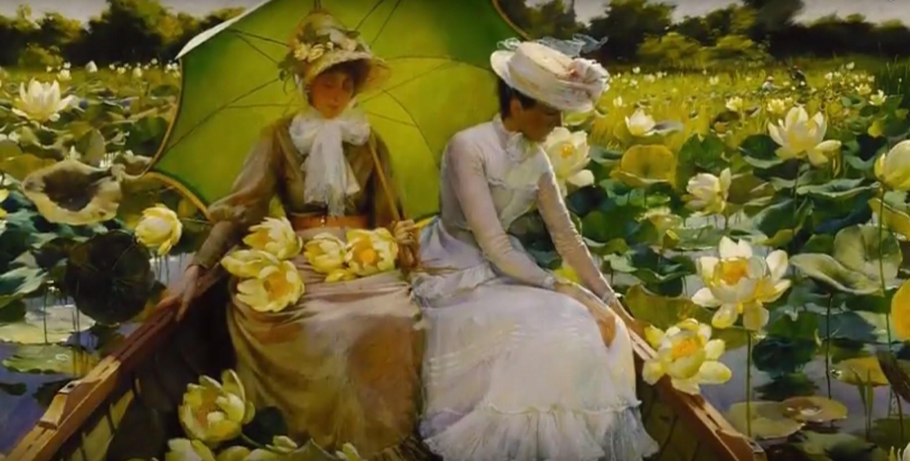 Famoso Giovani donne, fiori, giardini, bambini. I quadri di Courtney  KT47