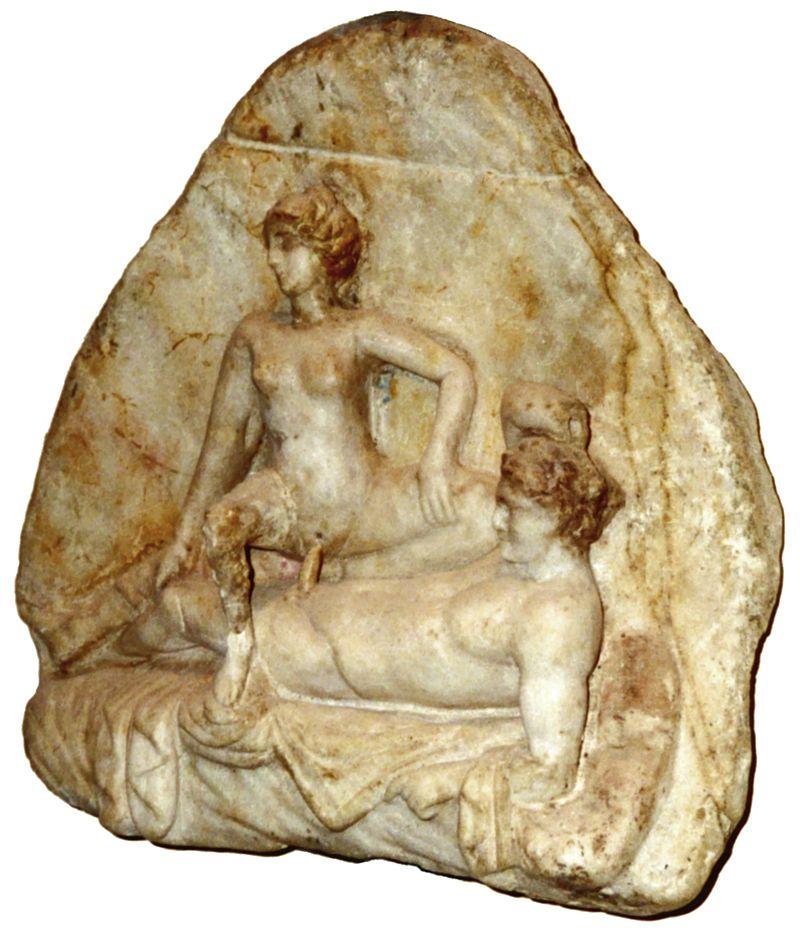 a pompei rilievo marmoreo