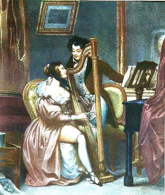 Achille Devéria, L'arpa, secolo XIX