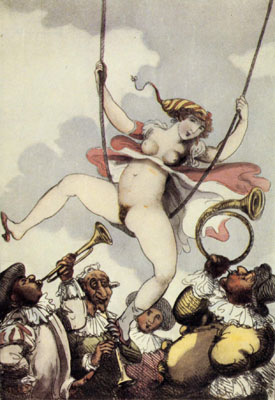 Thomas Rowlandson, L'altalena, secolo XVIII- XIX