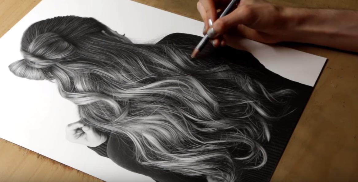 """Difficile o facile? Disegnare i capelli in un ritratto. Ecco come sciogliere un """"nodo"""" doloroso. Il video - Stile Arte"""