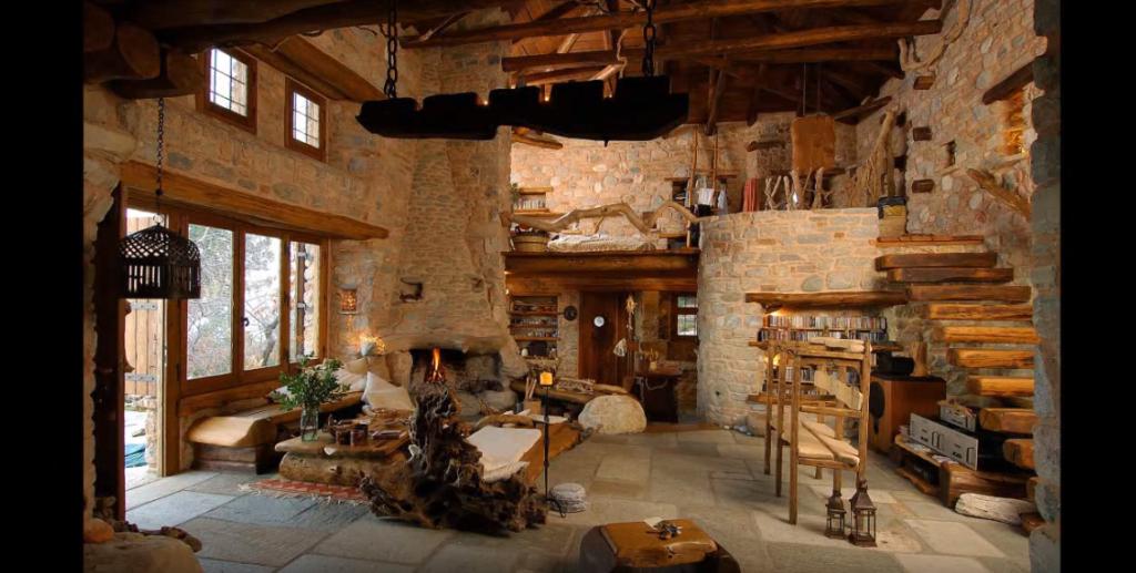 Pietra e legno d 39 ulivo la casa dell 39 architetto dimitris for Case legno e pietra