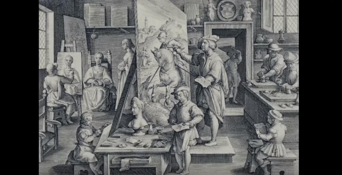 Come funzionava la bottega di un pittore antico diverse figure